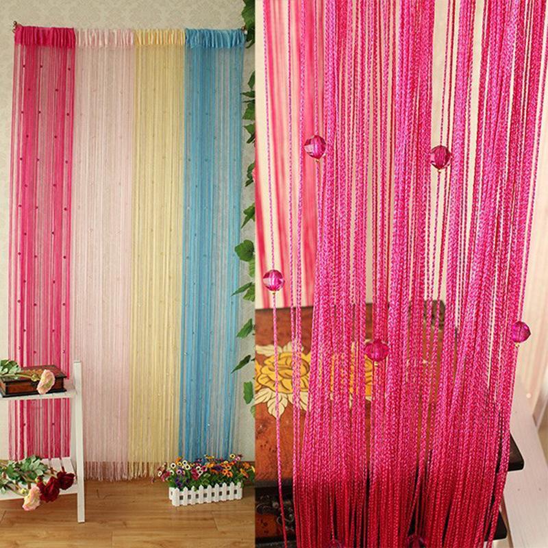6 Colors 1x2m String Curtain Tassel Windows Panel Home Decor