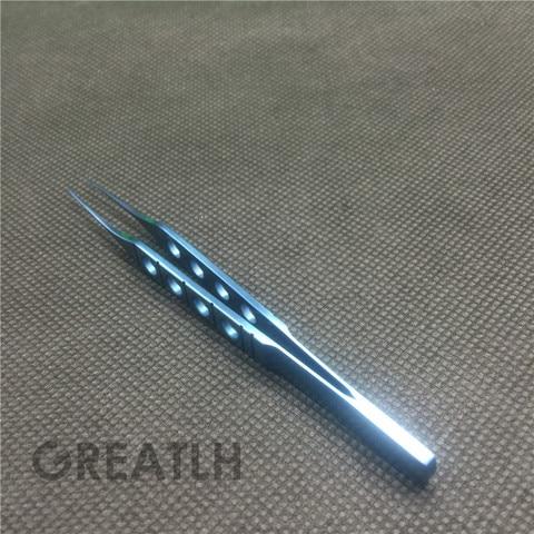 85mm tit nio em linha reta dente forcep oft lmico olho instrumento cir rgico