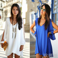 women dress summer 2017 Sexy Women Casual Sleeveless Beach Short Dress Tassel Solid White Mini Lace Dress Vestidos Plus Size