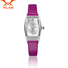 women VILAM Brand Watch Ladies Luxury Diamond Leather Quartz Wrist Dress Watch Leather Quartz Wrist Watches Female Wristwatch