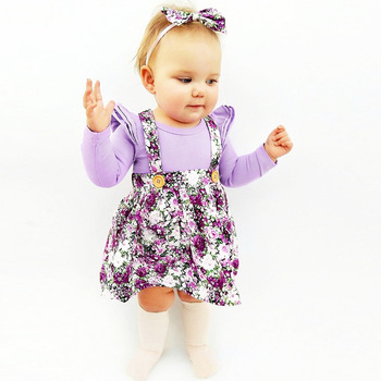1-4y Summer Children Clothing Floral Girl Skirt Cotton Cute Toddler Suspender Skirts for Baby Girls Clothing  2