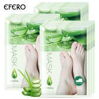 EFERO 2 paar = 4 stücke Fuß Maske Tote Haut Entferner Aloe Essenz Peeling Fuß Maske Fußpflege Creme Maske für Beine Socken für Pediküre