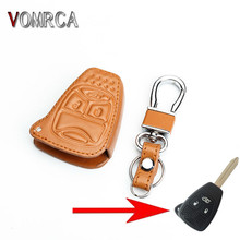 Hot sell genuine leather keys case cover car keys wallet bag for Jeep wrangler Jeep compass Jeep liberty 3 buttons  starline a91