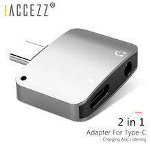 !ACCEZZ 2 in 1 USB Type C to 3.5mm Aux Splitter For Xiaomi Huawei P10 Mate 20 Jack Earphone Adapter Charge Headphone Connecter sensai cellular performance эссенция hydrachange cellular performance эссенция hydrachange