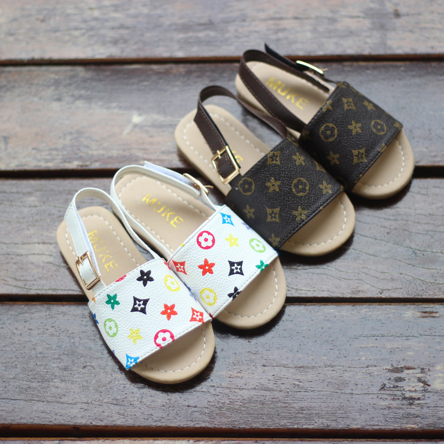 2018 Summer Boys and Girls Sandals Baby Toddler Shoes Slippers Soft Bottom Kids Baby Shower Shoes