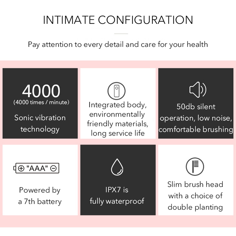Silicone Sonic Toothbrush Electric 3 Gear Waterproof Fully Automatic Adult Tooth Brush Electric High Frequency Usb Teeth Brush in Electric Toothbrushes from Home Appliances