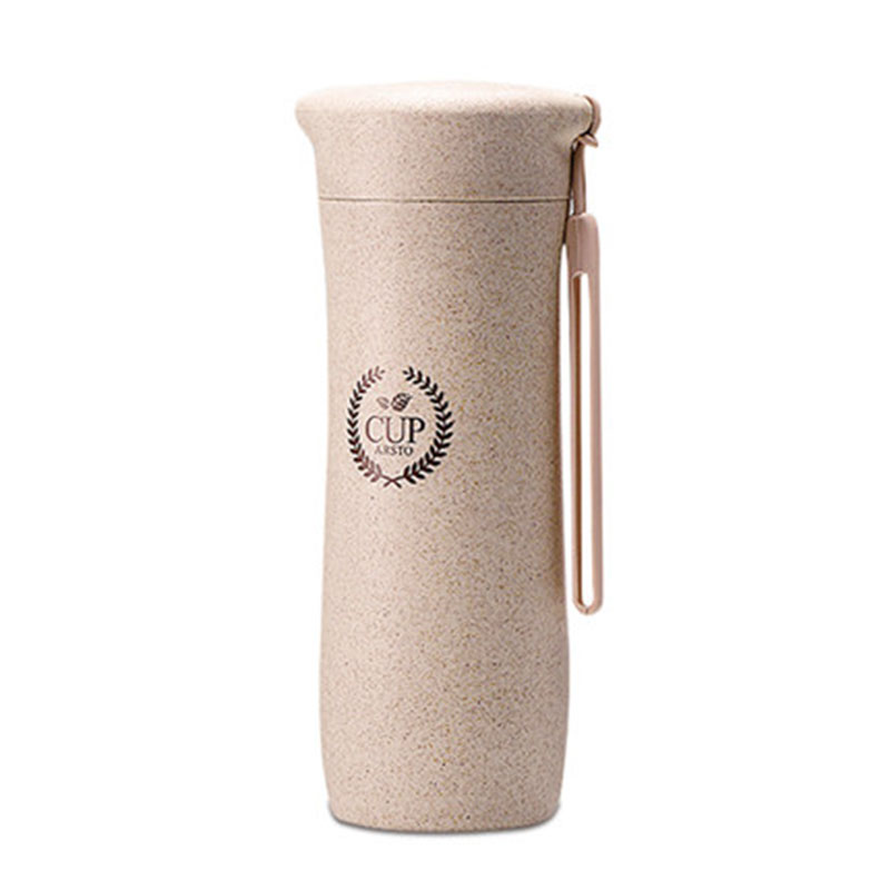 GFHGSD Creative Real New Protein Shaker Water Bottle Wheat Straw - Kitchen, Dining and Bar - Photo 4