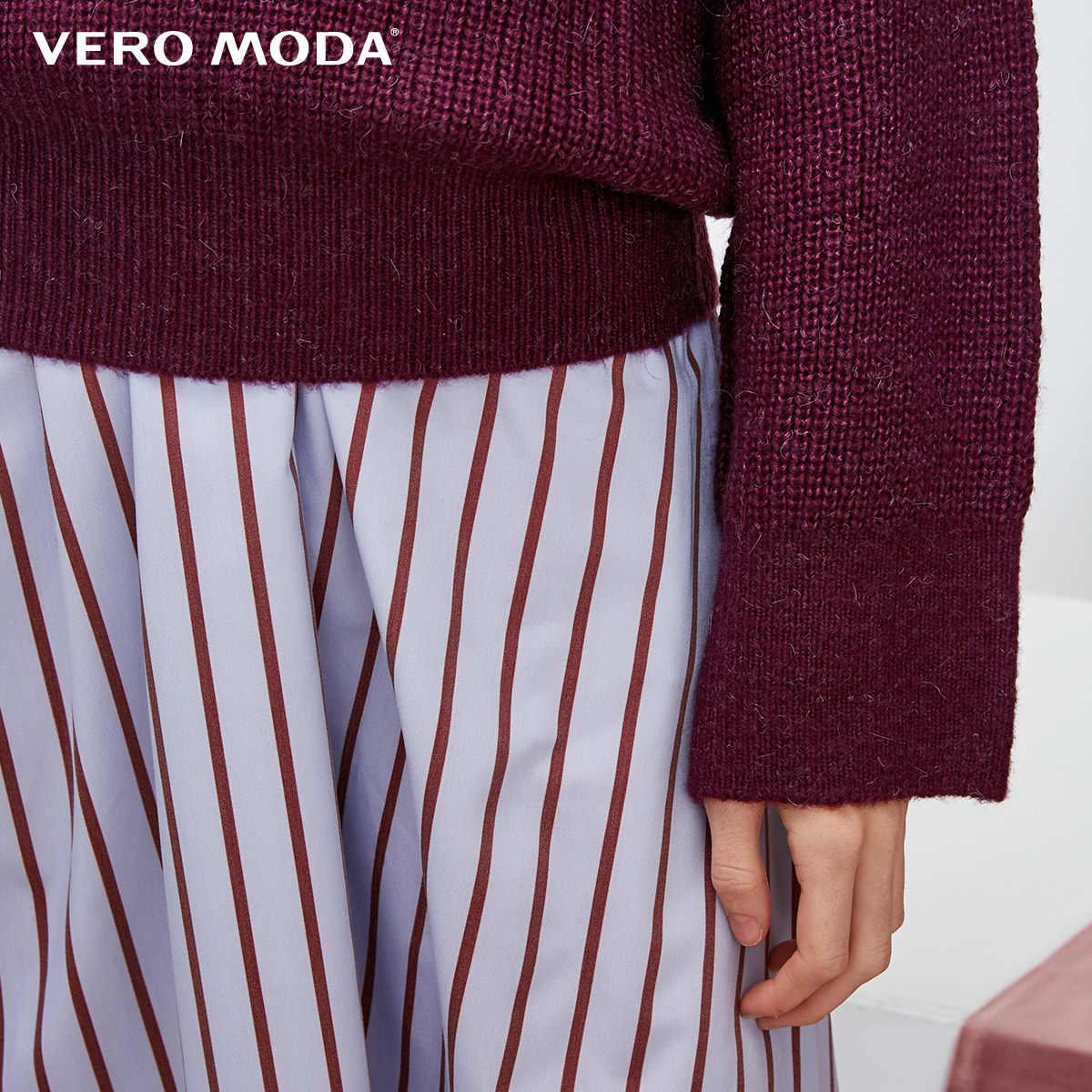 Vero Moda 2019 новая шерсть альпаки v-образным вырезом Падение плеча свитер | 318413549