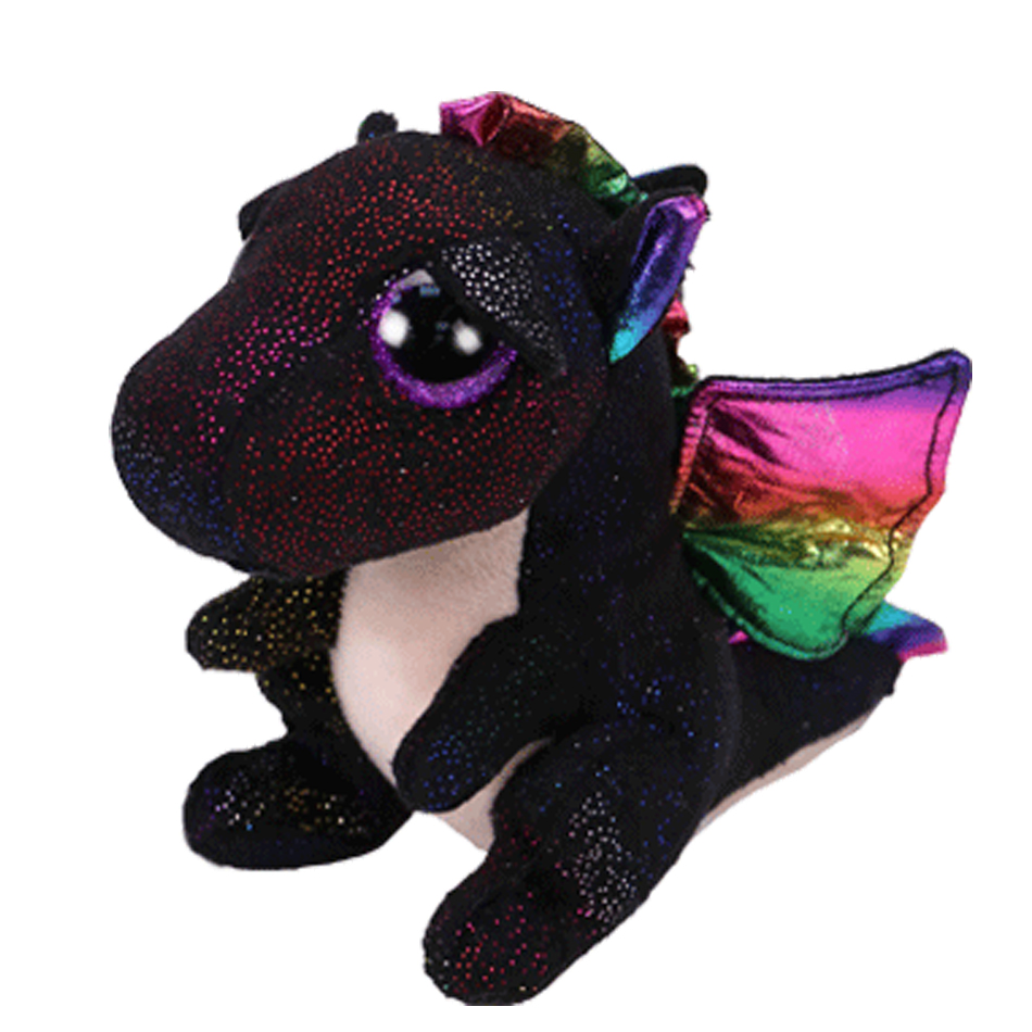 Ty Beanie Boos 6 15cm ANORA the black dragon Regular Cute Stuffed Animal Plush Doll Collectible Big Eyes Toys ty collection beanie boos kids plush toys big eyes slick brown fox lovely children gifts kawaii stuffed animals dolls cute toys