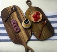 אין צבע אישיות יצירתית עבור סטרילי בית קפה קרש חיתוך קרש חיתוך עץ יומן כלי מטבח פיצה פאן