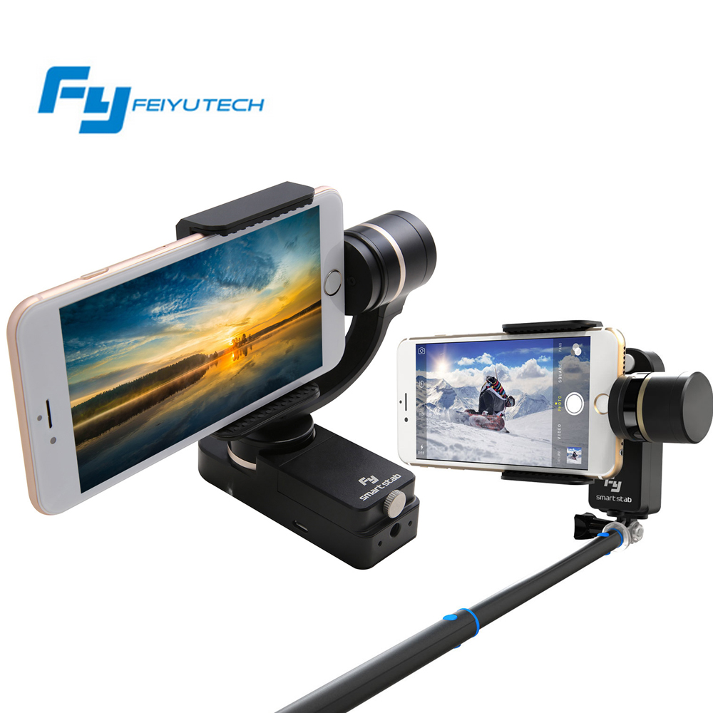 Feiyu Tech SmartStab 2-Axis Wearable Smartphone Selfie Handheld Gimbal For iphone 6 plus 6S or Similar Size Phone Free Shipping