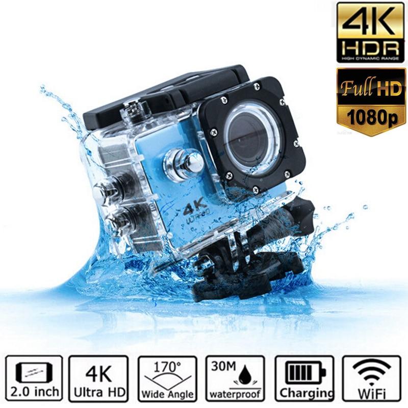 цена на 2inch TPS LCP 4K Ultra HD Video Camera FHD 1080P Sports DV UHD Action WiFi Camcorder Anti-shake Cam Wide Angle Go Deportiva Pro