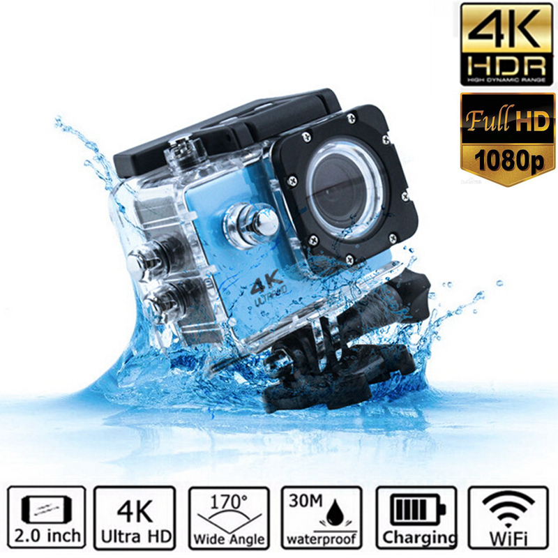 2inch TPS LCP 4K Ultra HD Video Camera FHD 1080P Sports DV UHD Action WiFi Camcorder Anti shake Cam Wide Angle Go Deportiva Pro