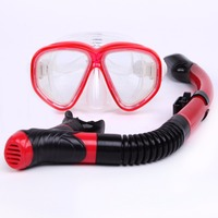 Anti fog Water Sports Glasses Diving Mask Dry type Breathing tube sets Snorkeling Equipment Silicone Sea Snorkeling Dives Adult