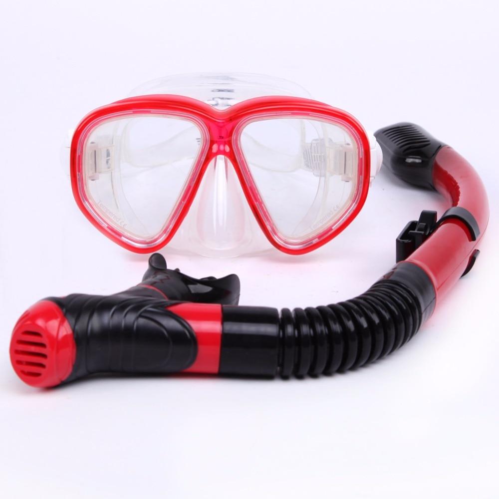 Anti-tåge Vandsportsbriller Dykmaske Tørretype Indåndingsrør sæt Snorkeludstyr Silicone Sea Snorkeling Dives Voksen