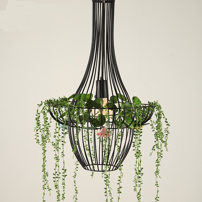 Italy designs iron art lights flower pots sky gardens potted plants Nordic restaurants creative  Pendant Lights  LO71818 lang qing court iron creative flower green dill multilayer wooden living room interior floor spider showy flower pots