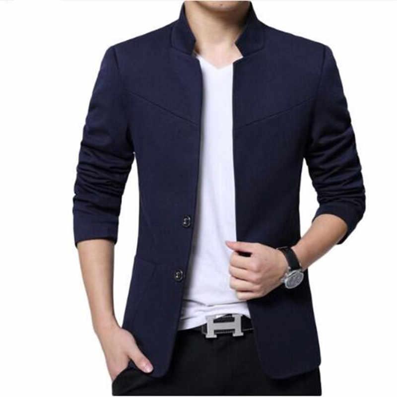 2018 New Autumn Winter Fashion Brand Unique Mens Blazer Jacket Woolen Casual Blazer Slim Fit Patchwork Sleeve Men Suit Jacket Blazers Aliexpress