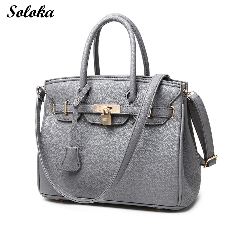 2018 Fashion Women Portable Tote Shoulder Bags Leather Top Handbags Crossbody Bags Office Ladies Bag With