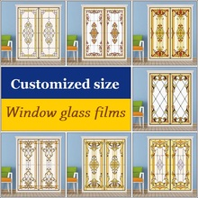 Custom size Window Film Glass Films Door Sticker Sliding stickers Stained  Frosted film