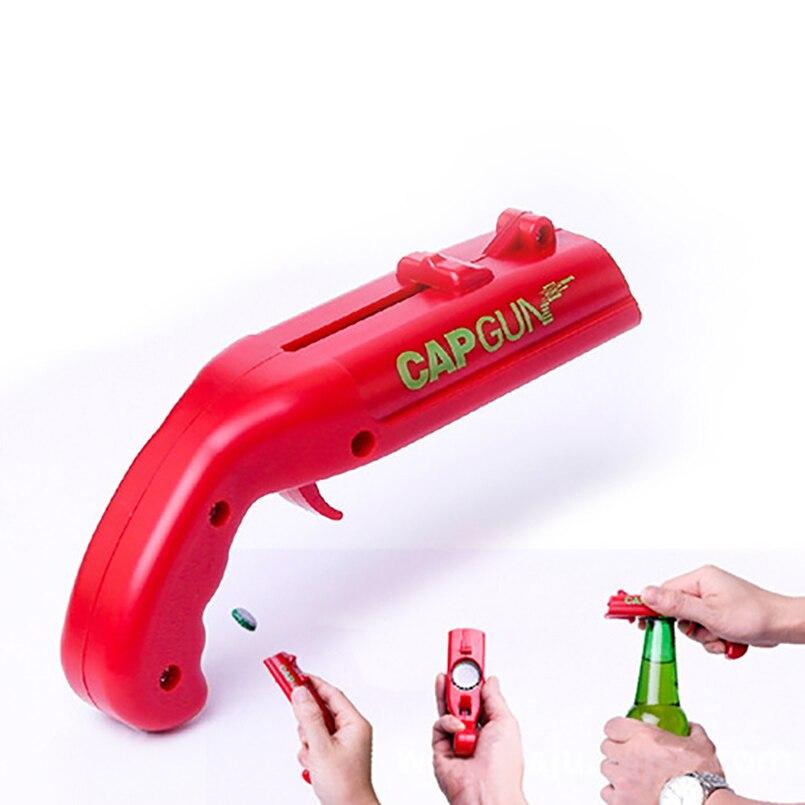 Draagbare Pistool Fles Capper Flesopener Creatieve Gepersonaliseerde Grappig Bier Metalen Bar Wijn Shooter Launcher Open Tool Conveniet Voorzichtige Berekening En Strikte Budgettering