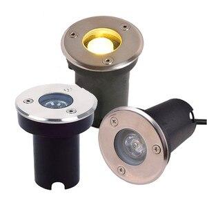 Напольный светодиодный подземный светильник 3 Вт 12 В DC RGB IP68 утопленный напольный светильник AC85-265V садовый двор ландшафтное освещение