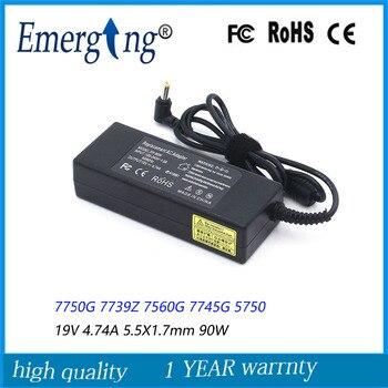 19V 4.74A * 5,5*1,7mm 90W nuevo ordenador portátil AC adaptador para Acer Aspire 7750G 7739Z 7560G 7745G 5750