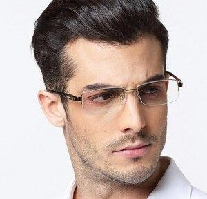 Image 5 - 男性の 100% 純粋なチタン老眼鏡ハーフリムレスリーダー + 50 + 75 + 100 + 125 + 150 + 175 + 200 + 225 + 250 + 275 + 300 + 325 + 350 + 375