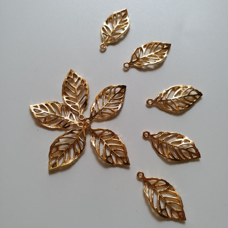 10pcs lot diy beaded Patches for clothing Alloy leaf decoration parches jewelry accessories for hair clothes hat bags in Patches from Home Garden