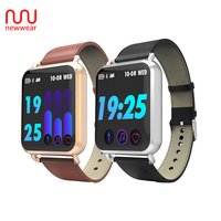 Upgraded Newwear Q3 Smart Watch 1.3 Inch Men Women HR Blood Pressure Monitor Waterproof Sport Fitness Tracker Smartwatch