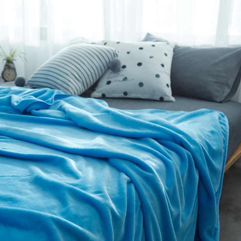 Parkshin göl mavi atar flanel battaniye yorgan yorgan yumuşak kış polar battaniye Wrap yatak kanepe uyku örtüleri