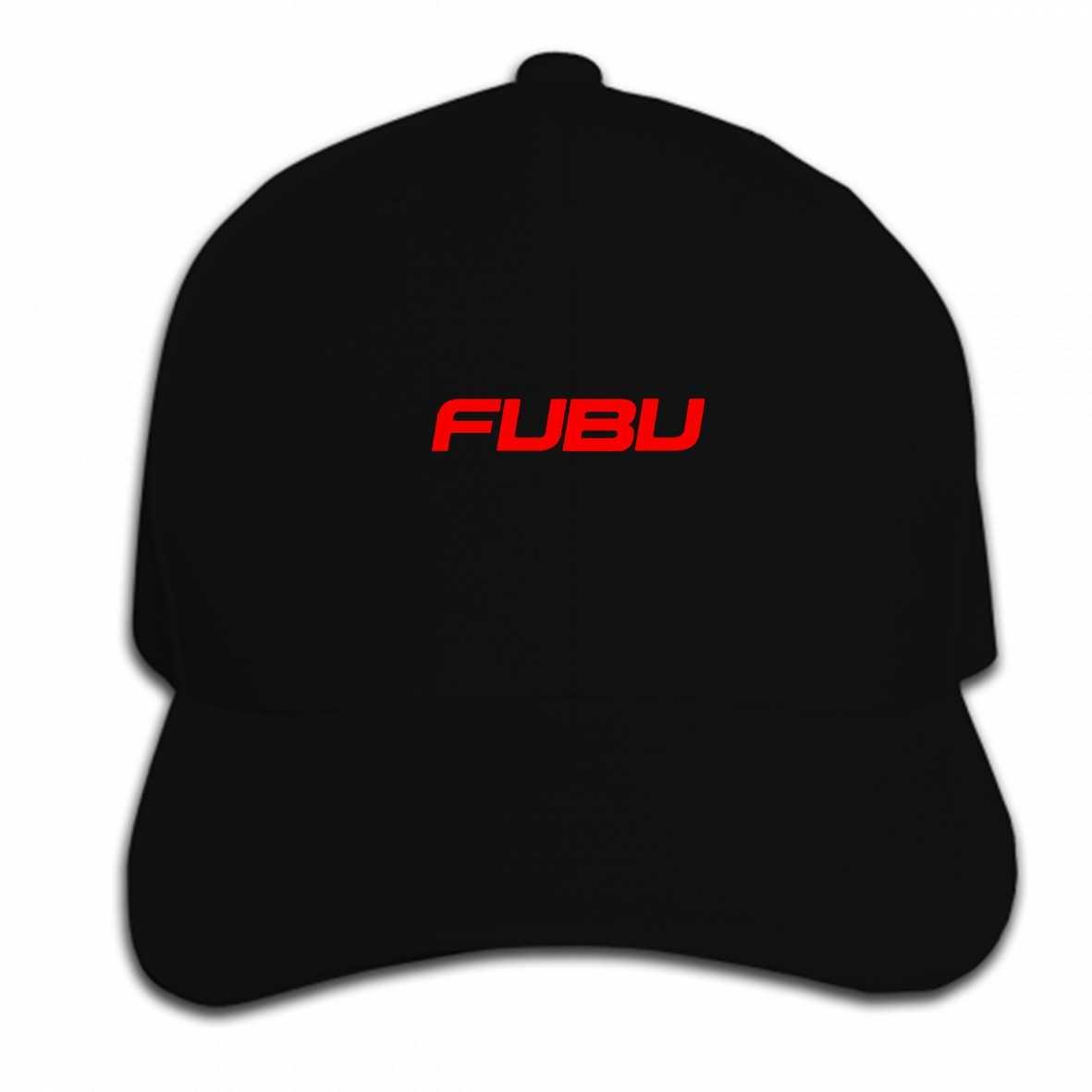 b2f675506827c Print Custom Baseball Cap Fubu Logo Graphic Men Casual s Black Hat Peaked  cap