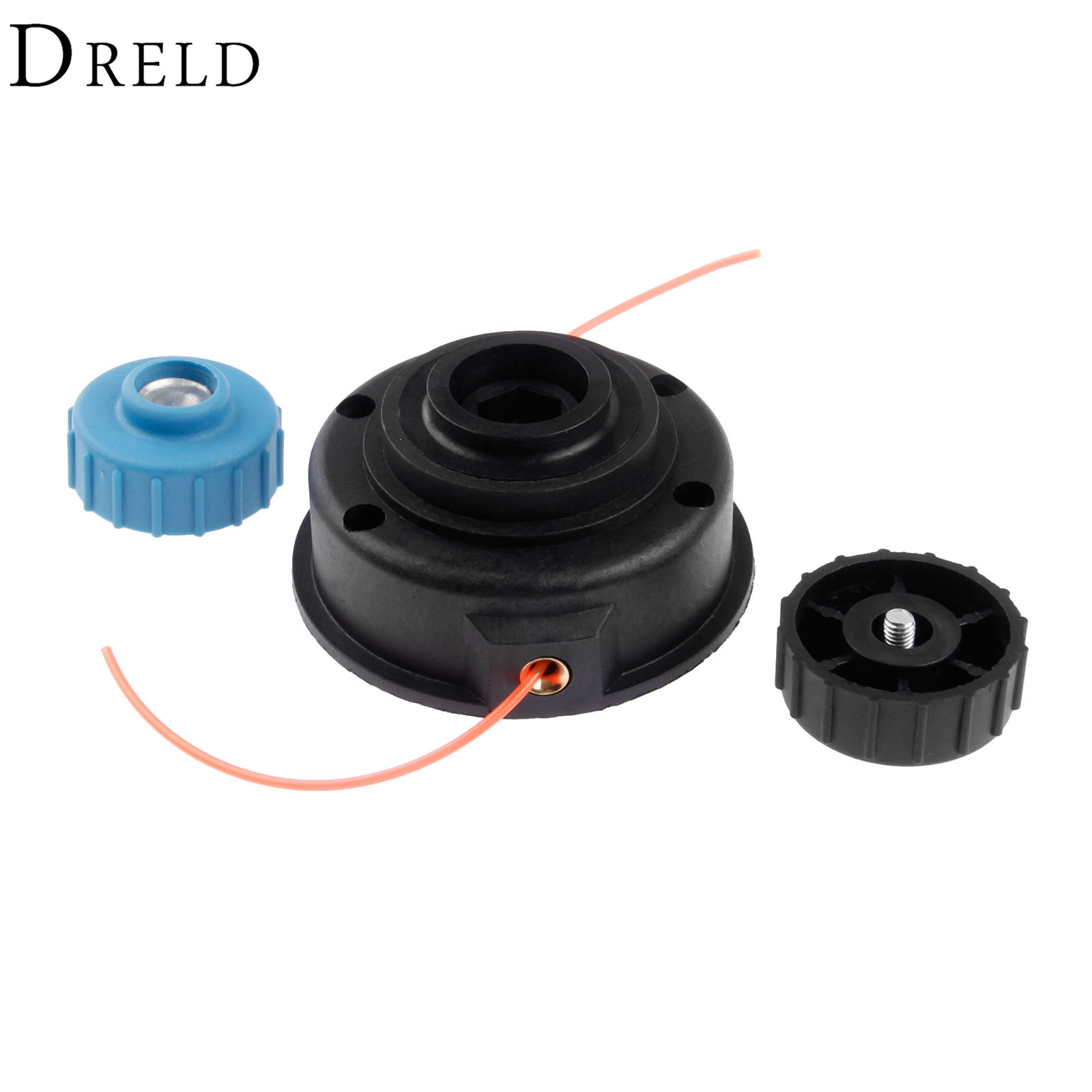 DRELD Black Plastic String Trimmer Bump Head Line Brush Cutter Head Lawn Mower Accessories for Strimmer Garden Tools Accessories neoclima slim 30s