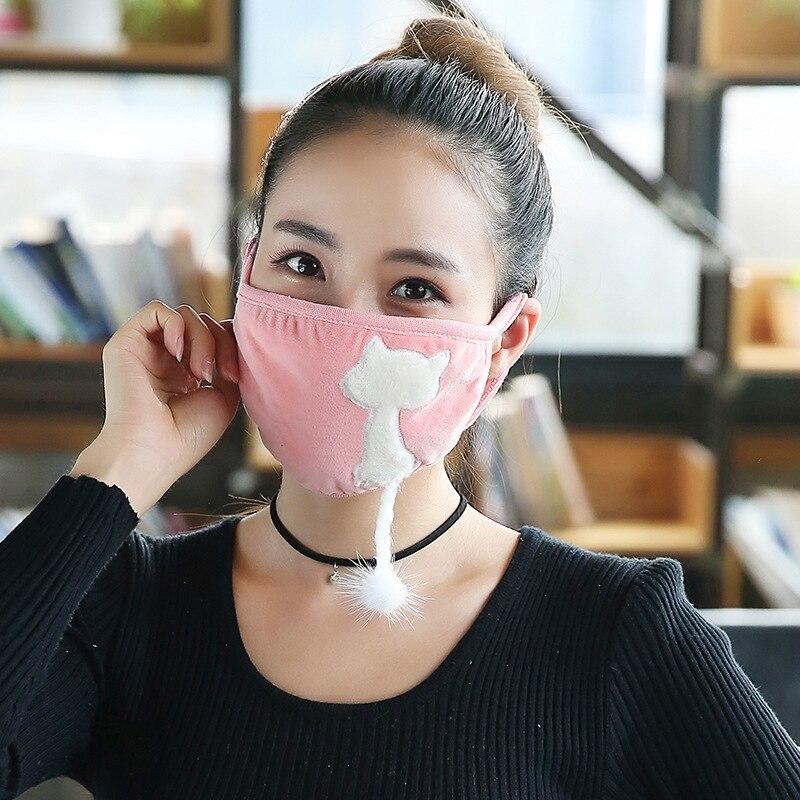 In 10 Teile/paket Mb Winter Maske Weibliche Reiten Dustpr Dame Katze Staub Masken Sind Reiten Kalt Verdickung Frau Masken Dicke Masken Großhandel Novel Design;