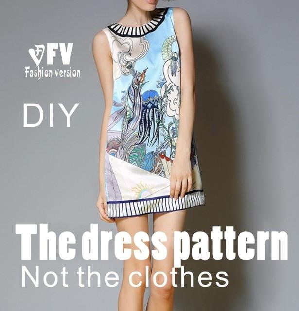 Kleider Nähen Muster Vorlage Schneiden zeichnung Kleidung DIY ...