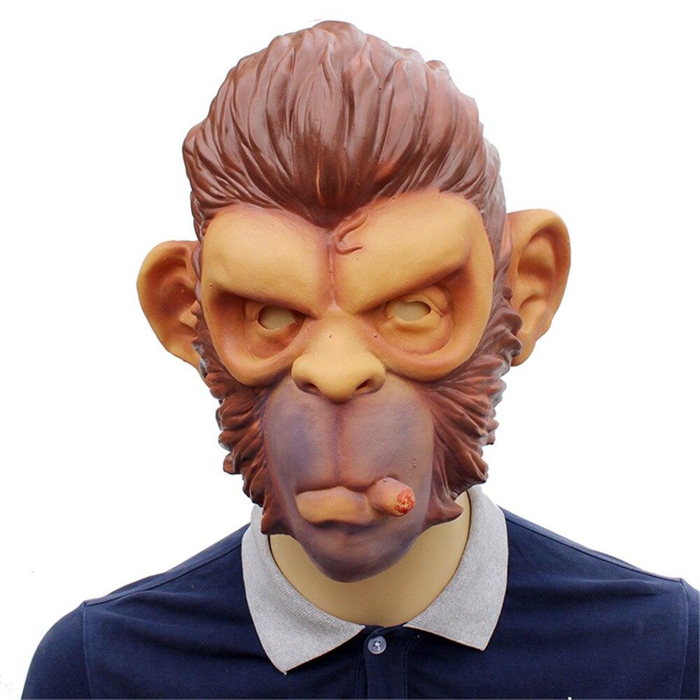 GTA Grand Theft Auto V Gorilla Maske Latex Harley Beast Ritter Schimpanse Masken haube affe Latex mascaras Halloween spiel spielen
