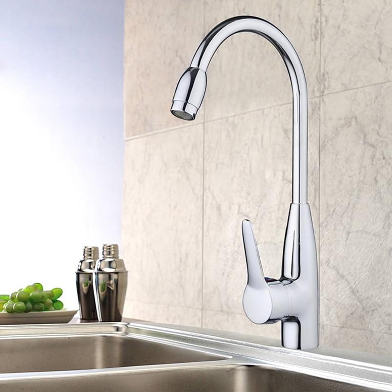 Kitchen 360Degree Rotatable Spout Single Handle Sink Basin Faucet Hot/Cold Mixer Water Tap Basin Kitchen/Bath Wash Basin Faucet