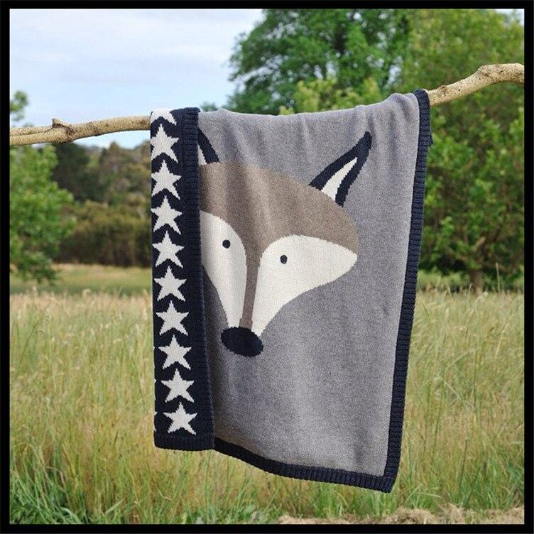 2017 зима новый стиль мода детское одеяло kawaii лисы и кролика высокого качества из хлопка для новорожденных конверт ¬язание пелЄнки из муслина