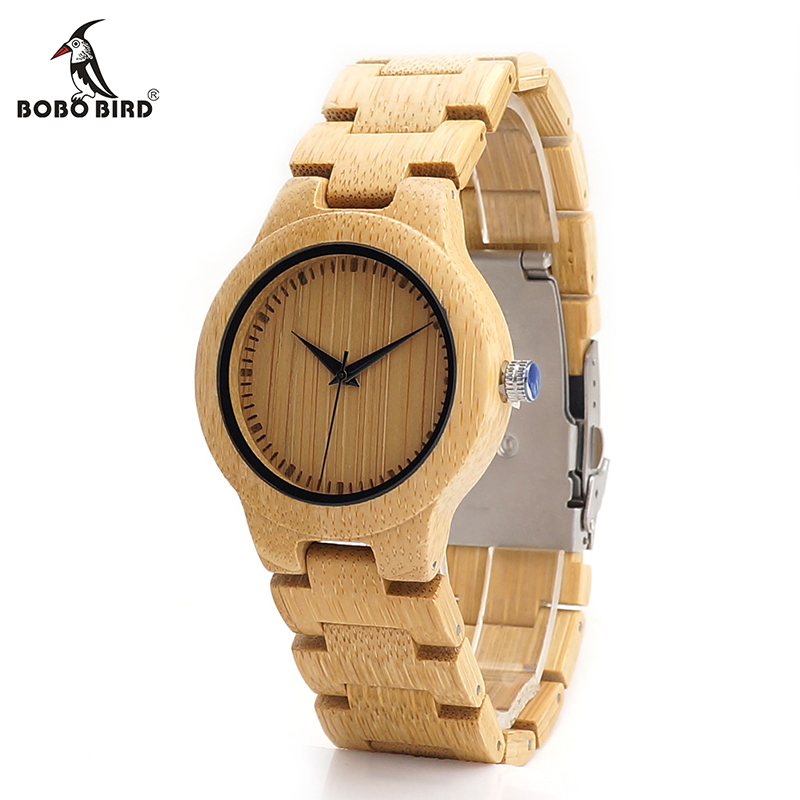 BOBO BIRD Original Brand Bamboo Women V-L28 Watches Handmade All Bamboo Ladies-quartz Watch with Japan Movement as Gift Item bobo bird v o29 top brand luxury women unique watch bamboo wooden fashion quartz watches