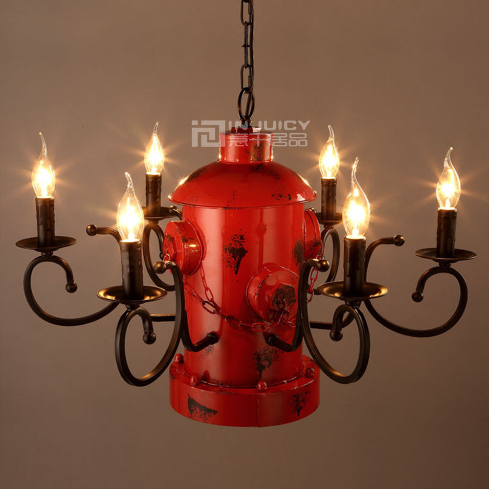 Loft Vintage Retro Fire Hydrant Column Chandelier Corridor Cafe Bar Restaurant Ceiling Light Club Hanging Droplight Decor Gift vintage loft industrial edison flower glass ceiling lamp droplight pendant hotel hallway store club cafe beside coffee shop