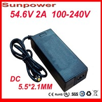 Free Shipping 54 6V 2A 48V 20AH Li Ion Charger 48V 2A Power Adapter For 13S