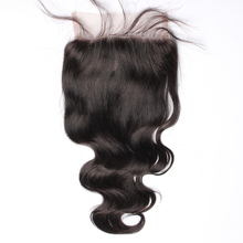 7A Grade Indian 5″X5″ Lace Closure Bleached Knots Indian Body Wave Lace Closure Free Middle Three Part Top Closure