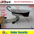 2016 El Más Nuevo Dahua DH-IPC-HFW4431M-I1 4MP H.265 Red Full HD IR Mini Cámara cctv POE red bullet con soporte