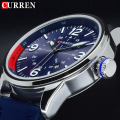 2016 CURREN Mens Watches Top Brand Luxury Blue Man Wrist Watch Men CURREN Quartz Men Wristwatches Male Clock Relogio Masculino