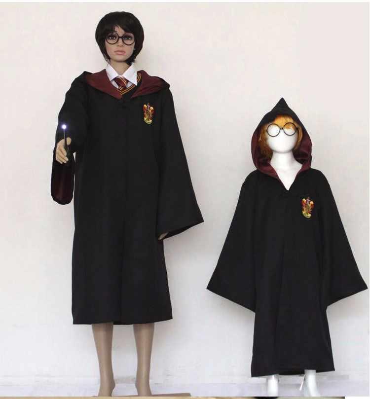 Карнавальный костюм Поттер халат плащ с галстуком шарф Ravenclaw Гриффиндор Hufflepuff Слизерин Поттер Костюм