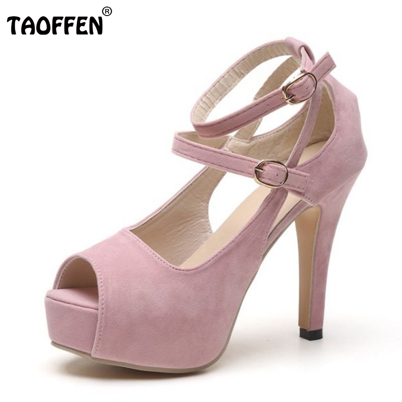 Lady High Heel Sandals Peep Toe Shoes Women's Ankle Strap Buckle Thin Heels Sandals Fashion Platform Woman Footwear Size 34-39 пила циркулярная настольная metabo bks 400 plus 3 1 wnb