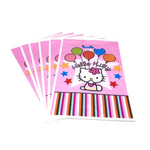 db86537b96de Hello Kitty Theme Plastic Gift Bags Child Birthday Party Loot Bag Supplies  Pink Candy Bag Snack Bag Baby Shower Decoration 6pcs