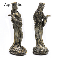 Aqumotic The God of Wealth and Money Statue Art Greek God's Power Managing Born Best Wishes Fiscal Valuables Goddess Store Gift