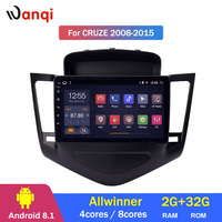2G RAM 32G ROM Android 8.1 Car Audio Player 9inch For Chevrolet Cruze 2008 2014 GPS Navigation With Playstore