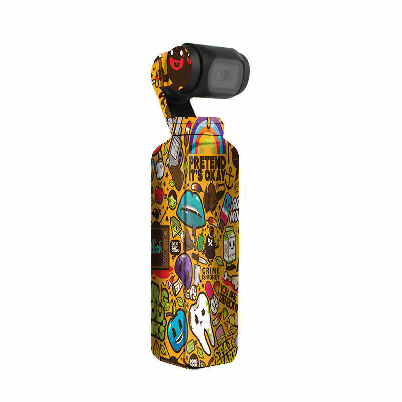 Graffiti Booming Sticker Decals Skin Protective Film Waterproof Handheld Camera Accessories for DJI OSMO Pocket Skin Sticker
