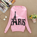 Autumn Hoodies Women Modern Ladies Long Sleeve Paris Printed Eiffel Tower Fleece Pullovers Casual Sweatshirts Female Blouse Tops